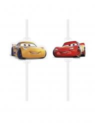 4 Cars 3™ rietjes met afbeelding