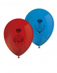 8 latex rode en blauwe Paw Patrol™ ballonnen