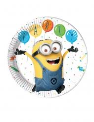 8 kartonnen Minions balloon party™ borden