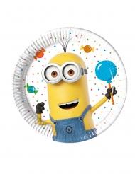 8 kleine kartonnen Minions Balloon Party™ borden