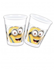 8 plastic Minions Balloon Party™ bekers