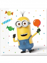 20 papieren Minions balloon party™ servetten