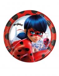 8 kleine kartonnen Ladybug™ bordjes