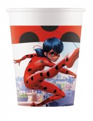 8 kartonnen Miraculous Ladybug™ bekers
