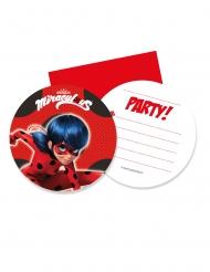 6 Ladybug™ uitnodigingen en enveloppen
