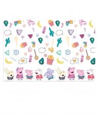 Kleurrijk plastic Peppa Pig™ tafelkleed