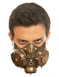 Koperkleurig Steampunk half masker voor volwassenen