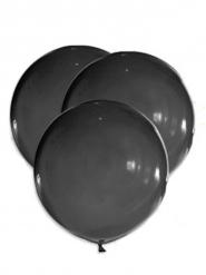 5 enorme zwarte latex ballonnen