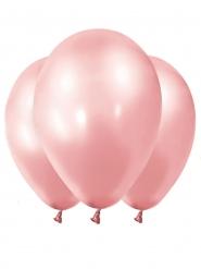 12 roségouden metallic ballonnen