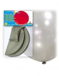 Enorme zilverkleurige latex ballon