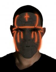 Zwart LED masker voor volwassenen
