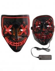 Rood lichtgevend plastic led masker voor volwassenen