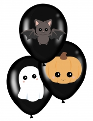 6 latex schattige Halloween ballonnen
