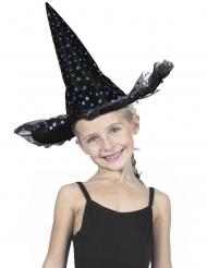 Luxe regenboogkleurige sterren heksenhoed voor kinderen