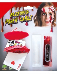 Bloederige kaarten schmink set
