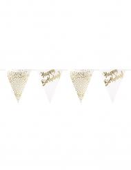 Luxe goudkleurige happy birthday slinger