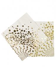16 luxe goudkleurige servetten