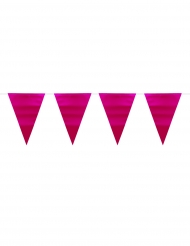 Roze metallic vlaggenslinger