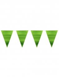 Groene metallic vlaggenslinger