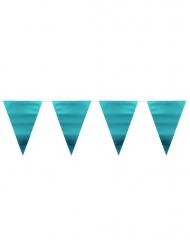 Metallic blauwe vlaggenslinger