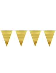 Goudkleurige metallic vlaggenslinger