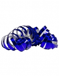 2 metallic blauwe serpentine rollen
