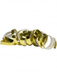 2 goudkleurige metallic serpentine rollen