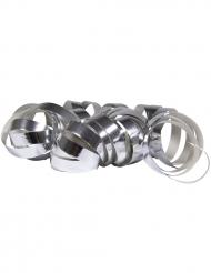 2 zilverkleurige metallic serpentine rollen