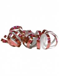 2 roze holografische serpentine rollen