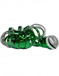 2 groene holografische serpentine rollen