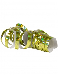 2 goudkleurige holografische serpentinerollen