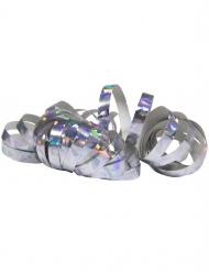 2 zilverkleurige holografische serpentine rollen