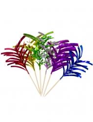 10 metallic aperitief palmboom prikkers