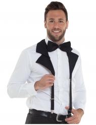 Zwarte bretels met strikje voor volwassenen
