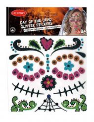 Dia de los Muertos glitter stickers