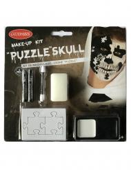 Puzzel doodskop schmink set voor volwassenen