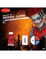 Sinistere clown schmink set voor volwassenen