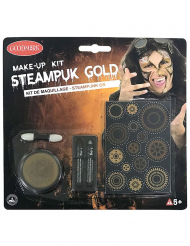 Goudkleurige steampunk schmink set