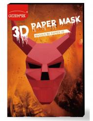 Papieren 3D duivel masker voor volwassenen