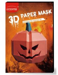 Papieren 3D pompoen masker voor volwassenen