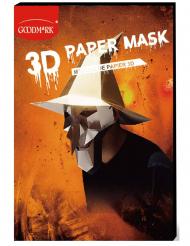 Papieren 3D heks masker voor volwassenen