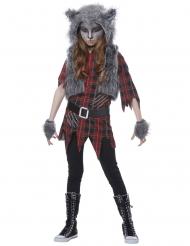 Geruite weerwolf outfit voor meisjes