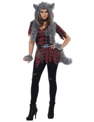 Weerwolf kostuum met nepbont voor vrouwen