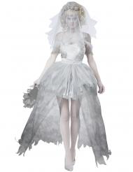 Witte en grijze spook bruid outfit voor dames - Plus Size