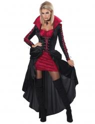 Sexy rood en zwart vampier kostuum voor dames