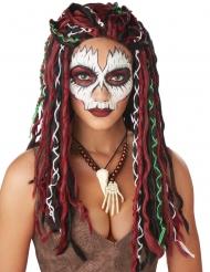 Voodoo priester pruik voor vrouwen