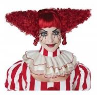 Rode psycho clown pruik voor vrouwen