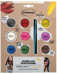 Professionele make-up palet op waterbasis 9 x 4 gram