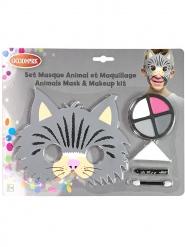 Kat masker en schmink set voor kinderen