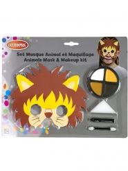 Leeuw masker en schmink set voor kinderen